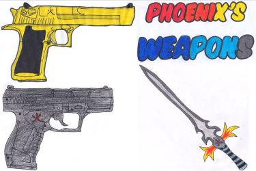 Phoenix's weapons by Silverxtreme56