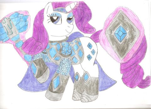 Rarity, The Gem Knight by Dune-Cat