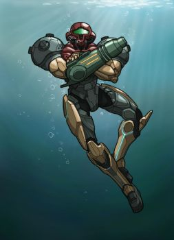 PED Samus colored by arok318