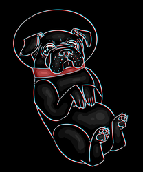 Space Pug by OwlCreme