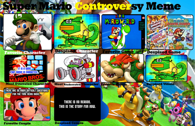 My Super Mario Controversy Meme answers by SuperSaikai