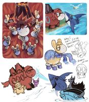 pokemon doodles by Kessavel-art