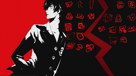 Persona 5 Color Changing Icons  by ErenDragneel