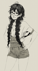 sketch style female by cmaemon