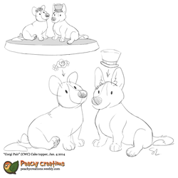 Cake Topper Sketch1 by FoxedFerret