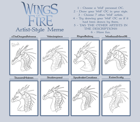 WoF Artist Style Meme outline by xTheDragonRebornx