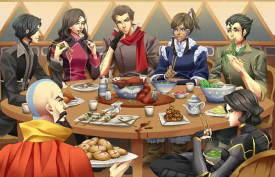 Team Uh-vatar Dinner by CL0CHE