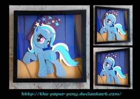 The Great and Powerful Trixie Shadowbox by The-Paper-Pony
