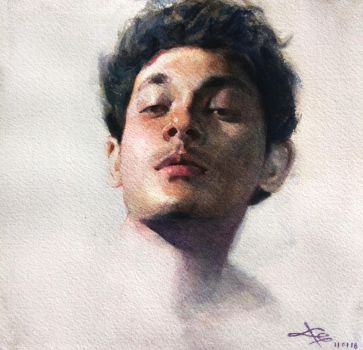 self portrait in watercolor by facetheface