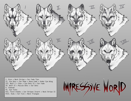 [Impressive World] Canine Facial Marking Concepts by Vegaven
