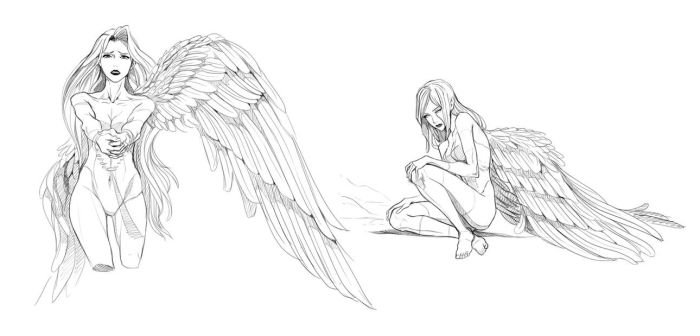 Fallen angels - video process by Precia-T