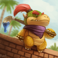 DAY 185. Bowser Jr. (30 Minutes) by Cryptid-Creations
