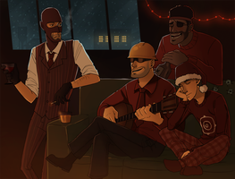 tf2: ceasefire Christmas by Detkef