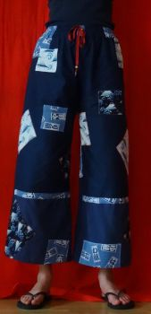 Japan fabric patchwork trousers by Nekomi--chan