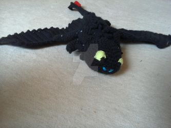 Crochet Toothless 2nd Film frontal view by Cadfail