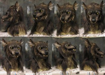 Snarly werewolf mask! by Crystumes