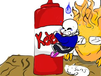 Grillby Asks How by Bluedigiwolf