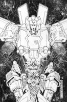 Transformers Lost Light issue 8 Sub cover lineart by markerguru