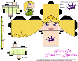 Disney Princess Aurora Cubeecraft Green Dress PT 1 by SKGaleana
