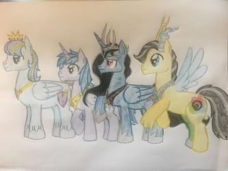 The princes of equestria by gibina4ever
