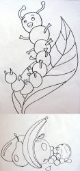 Coloring for kids, Caterpillar and Composition by Crimnor