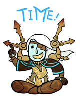 Smite - TIME! (Chibi) by Zennore