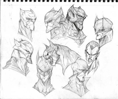 Batmen by COLOR-REAPER