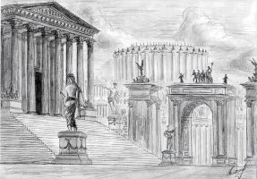 Buildig of the Roman Senate by Osokin