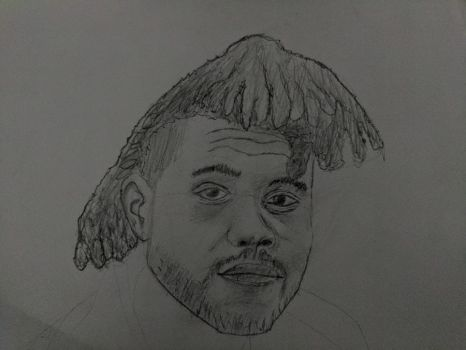 The Weeknd (Quick 20 minute rough sketch) by Marziman-Official