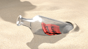 SOS Brigade armband in a bottle by BenWurth