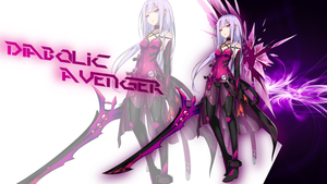 Elsword Online-What if? Diabolic Avenger Elesis by PrinceBlckJester