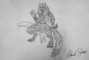 Scion Wolf Transformation: Beast by Dragonis0