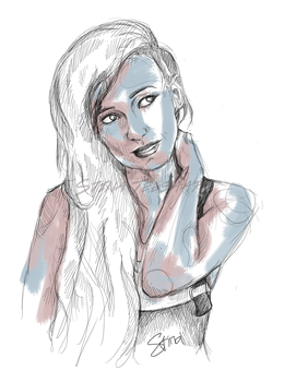 Lights portrait sketch by chillycatx