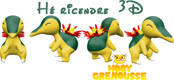 .:CYNDAQUIL 3D:. by HOBYGRENOUSSE