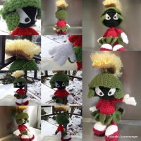 Marvin the Martian Amigurumi by RTakeshi