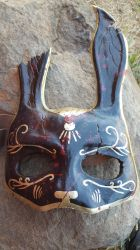 Black Bioshock Splicer Mask by meanlilkitty
