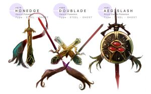 Honedge - Doublade - Aegislash by MrRedButcher