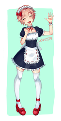 Maid Sayori by whopperjunior