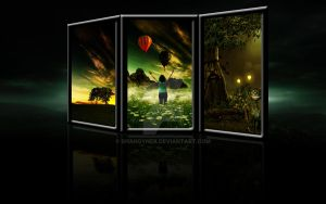 3 fantasy landscapes wallpaper by ShangyneX