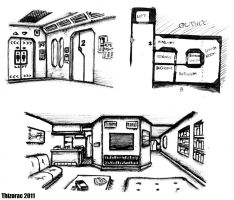 Ace's Apartment - Sketches by thizorac