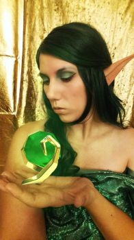 Cosplay for a Day Day 22 Farore LoZ Emerald by Elvishprincess25