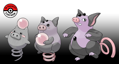 325 - 326 Spoink Line by InProgressPokemon
