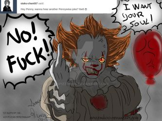 It Pennywise- Super Indignation mode. by Spizzina00