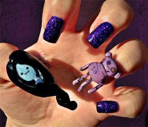Adventure Time Nail Art - Marceline and Hambo by KayleighOC