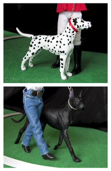 Breyer Dog Show - Dalmatian And Dane by The-Toy-Chest
