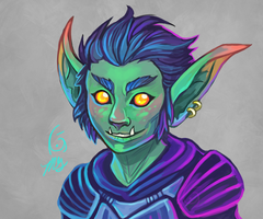 Skitter- Goblin Rogue by KeeperofAges