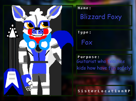 SLRP Animatronic Application Blizzard Foxy by Blizzard-and-Friends