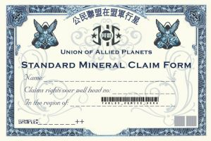 Mineral claim form by Planetspectra