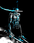 Roronoa Zoro Blue mode by B-L-HARBI