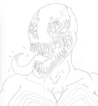 She Venom (I see you peter)  sketch. by Vaughn787